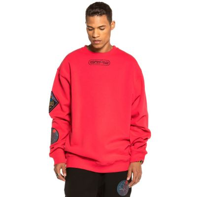 GRIMEY - ENGINEERING ORION CREWNECK - RED
