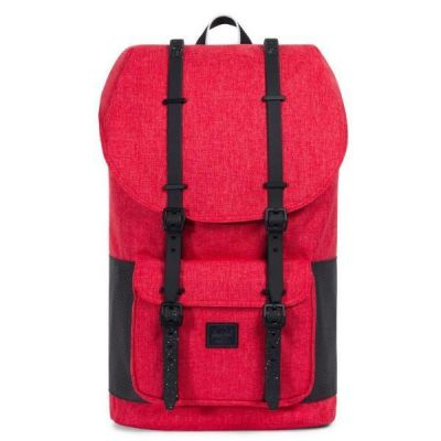 HERSCHEL - ZAINO LITTLE AMERICA - CHERRY/BLACK - ASPECT COLLECTION