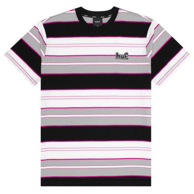 HUF - UPLAND SS KNIT TOP - BLACK