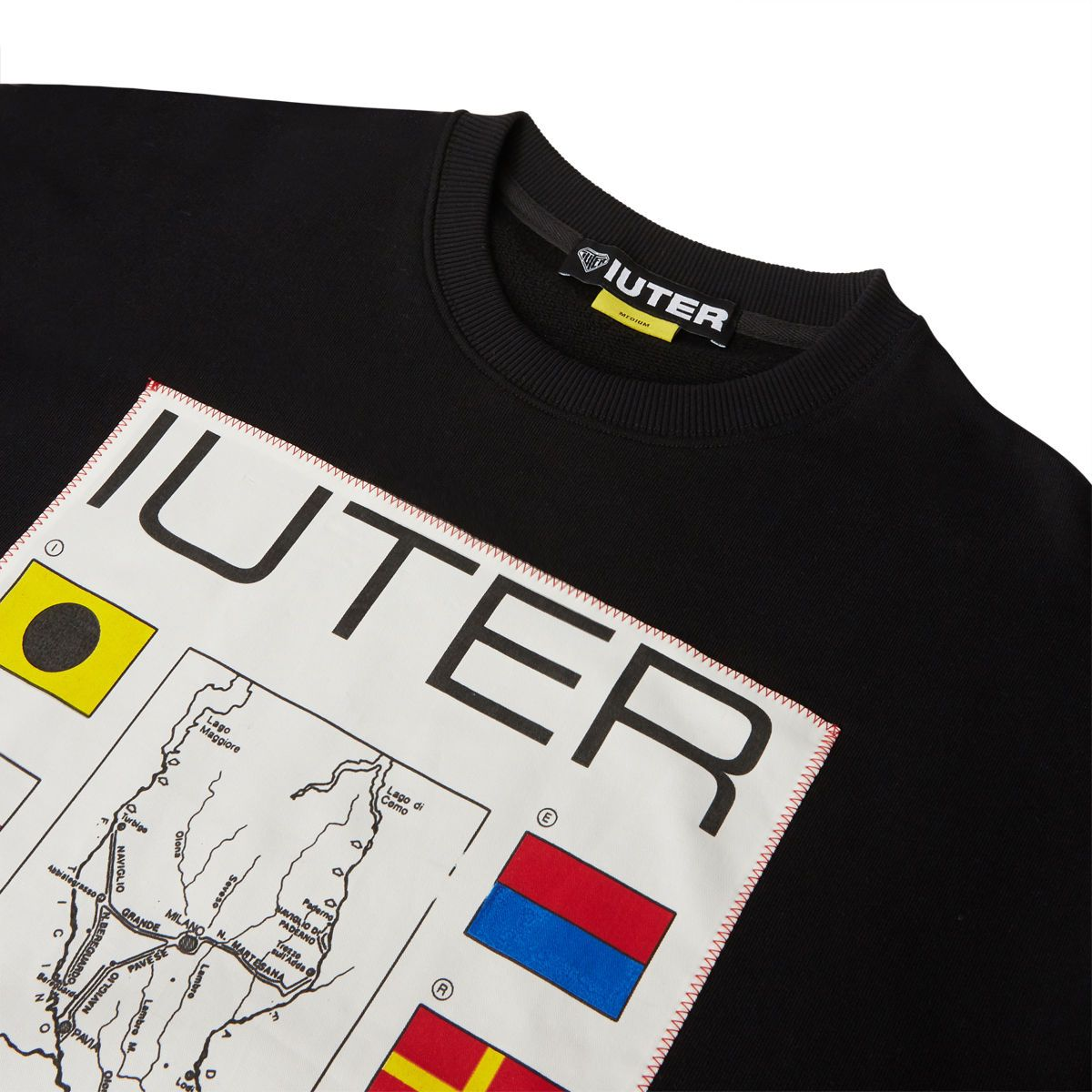 IUTER FELPA GIROCOLLO BROTHERHOOD BLACK