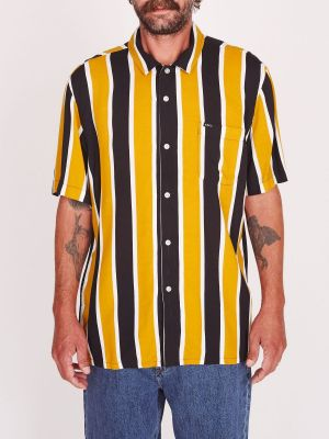 OBEY - SUTTER STRIPE SS SHIRT - MINERAL YELLOW MULTI